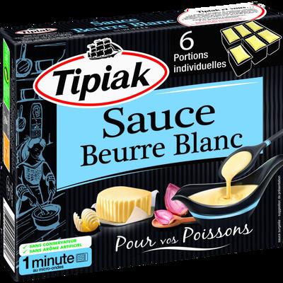 Sauce au beurre blanc TIPIAK, 6 portions individuelles de 50g soit 300g