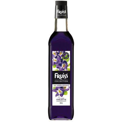 Sirop à la violette FRUISS COLLECTION, bouteille de 70cl
