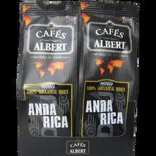 Café anda rica arabica doux, CAFES ALBERT, 2x250g