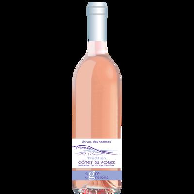 Vin rosé côtes du Forez AOP tradition Les Hommes, 75cl