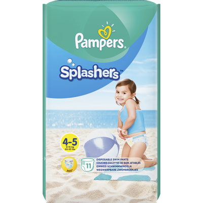 Couches Splashers PAMPERS 9-14kg Paquet Taille 4 X11