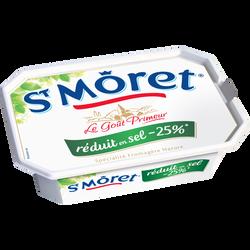 Spécialité fromagère nature pasteurisé réduit en sel SAINT MORET, 17%de MG, 150g