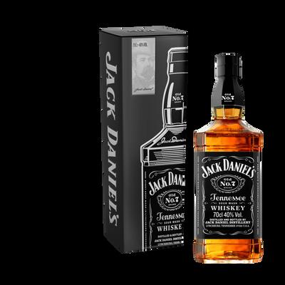 Whiskey  n°7 old JACK DANIEL'S ,40°, bouteille de 70cl + coffret fin d' année