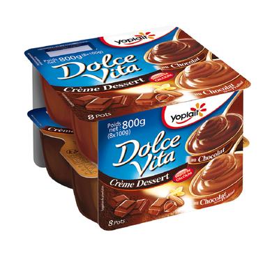 Crème dessert chocolat/praliné