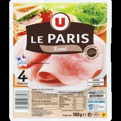 Jambon de Paris fumé U, 4 tranches, 180g
