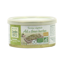 Terrine végétale ail et fines herbes sans gluten JARDIN BIO, boite de 125g