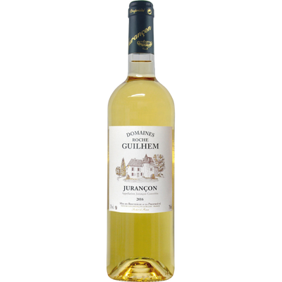 """Vin blanc AOC Jurancon """" Domaines Roche Guilhem"""" , 12°, bouteille de 75 cl"""