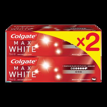 Colgate Dentifrice Max White One Colgate, 2 Tubes De 75ml
