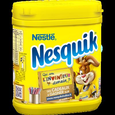 Poudre chocolatée instantanée NESQUIK Nestle, boîte en plastique de 490g