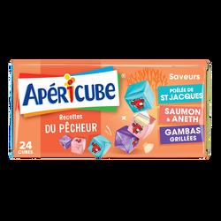 Spécialité fromagère fondue 19,5%mg APERICUBE pêcheur 24 cubes 125g