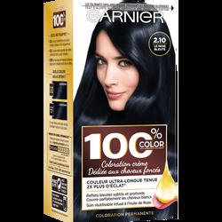 Coloration permanente 100% COLOR brun noir bleute 2.10