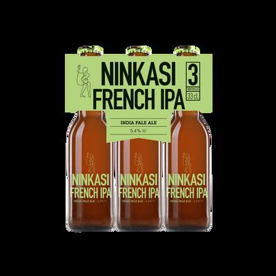 Bière french IPA NINKASI 5.4%, tripack 3x33cl