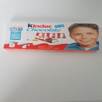 KINDER CHOCOLAT 100GX8