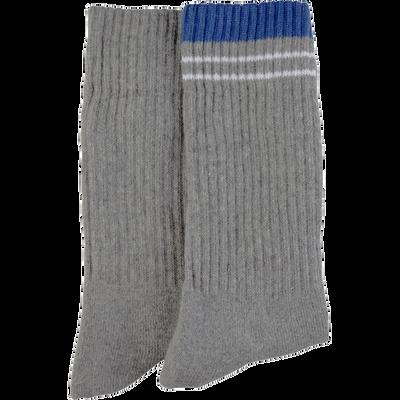 Lot de 2 mi- chaussettes tennis  ( 1 unie + 1 fantaisie rayure) U OXYGN