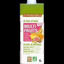 Jus multifruits Bio ETHIQUABLE, 1L