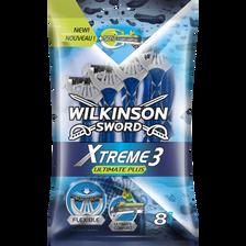 Rasoir masculin jetable xtreme 3 ultimate plus WILKINSON, x8