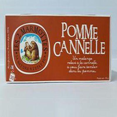 Infusion les 2 Marmottes Pomme Canelle 55g