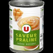 Crème dessert saveur praliné U, 400g