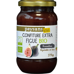 Confiture de figue du Roussillon Bio ETHIQUABLE, 375g