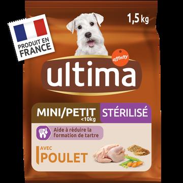 Ultima Croquettes Au Poulet Pour Chien Mini Stérilisés Ultima, 1,5kg