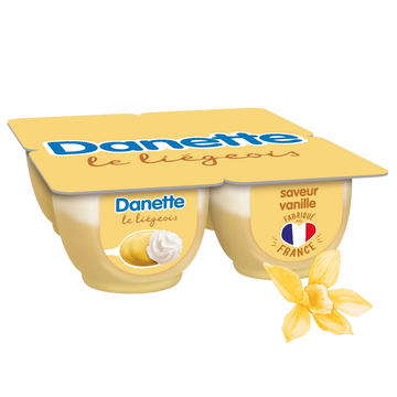 Danone Liégeois Vanille Danette, 4x100g