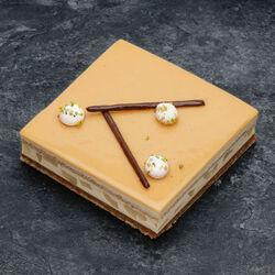 Croustillant poire caramel décongelé, 2 pièces, 290g