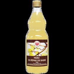 Huile de pépins de raisin U, bouteille de 1 litre