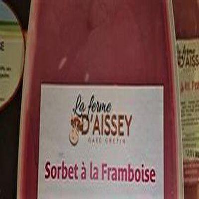 SORBET A LA FRAMBOISE FERME D'AISSEY 650 g