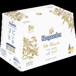 Bière blanche HOEGAARDEN, 4,9°, pack de 15 x 25cl