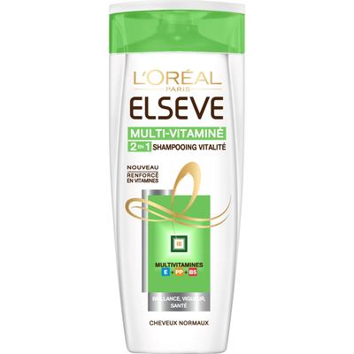 Shampoing 2 en 1 Multivitamines ELSEVE, flacon de 250ml