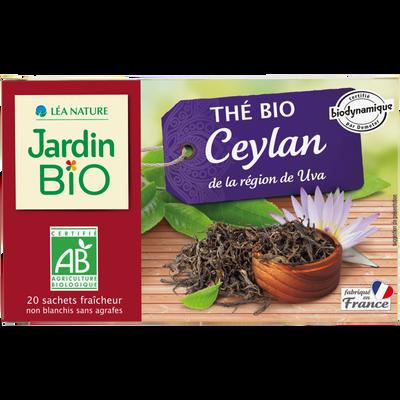 Thé noir ceylan biodynamique JARDIN BIO 32g