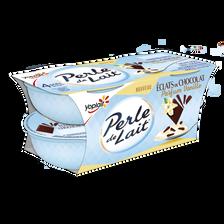 Yoplait Spécialité Laitière Sucrée Aromatisée À La Vanille Aux Copeaux De Chocolat Perle De Lait, 4x100g