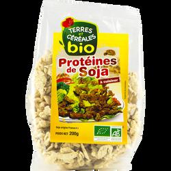 Protéines de soja à cuisiner bio TERRE ET CEREAKES, sachet de 200g