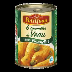 Quenelle de veau sauce financière PETIT JEAN, boîte de 400g