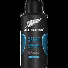 Déodorant ALL BLACKS, sport vaporisateur de 150ml