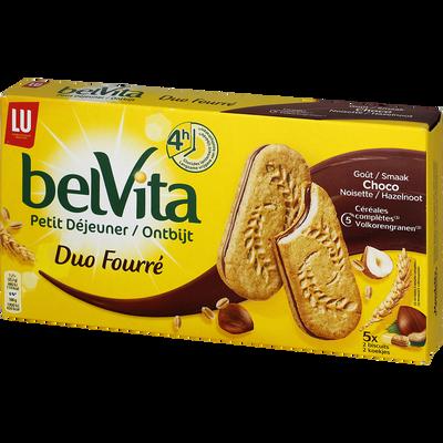 Biscuits Petit Déjeuner Coeur Fondant chocolat noisette LU, 253g