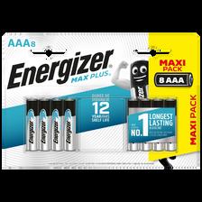 Piles ENERGIZER, MAX PLUS LR03, 8 unités