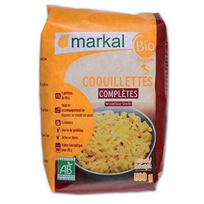 Coquillettes complètes BIO, MARKAL, le paquet de 500g
