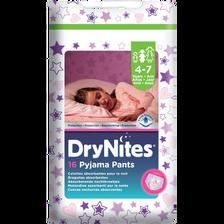 Chouches culottes Dry Nites girls HUGGIES, x16, 17 à 30kg  (4 - 7 ans)