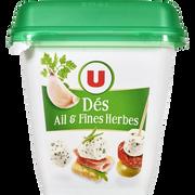 Ovive Spécialité Fromagère Au Lait Pasteurisé Dés De Salade Ail Et Fines Herbes U, 32% De Mg, 120g