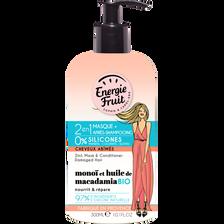 Masque soin 2en1 monoï/huile macadamia ENERGIE FRUIT, pompe de 300ml