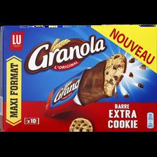 Barre extra cookies, GRANOLA Lu, paquet de 10 barres de 280g, maxi format
