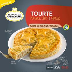 Tourte poularde cèpes sauce FRANÇAISE DE GASTRONOMIE, 450G