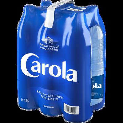 Eau de source CAROLA bleue pack, 6x1,50l