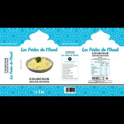 Couscous grains moyens les perles de l'Oued,  1kg