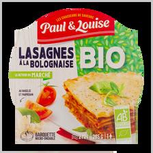 Lasagnes à la bolognaise bio PAUL & LOUISE, barquette de 285g
