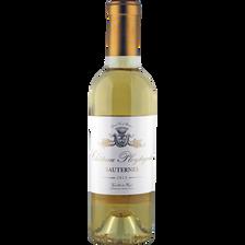 Vin blanc AOP Sauternes liquoreux CHATEAU PLEYTEGEAT, bouteille de 37,5cl