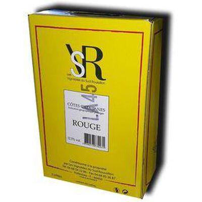 Vin Rouge Pollestres, IGP Côtes Catalanes Bib de 5L - LES VIGNERONS DU SUD