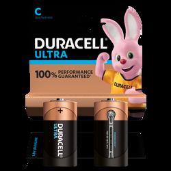 Piles LR14 DURACELL Ultra power, pack de 2