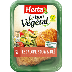 Escalope soja et blé le bon végétal HERTA, 180g